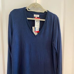 Lucky Brand Sweaters - Blue V neck sweater.